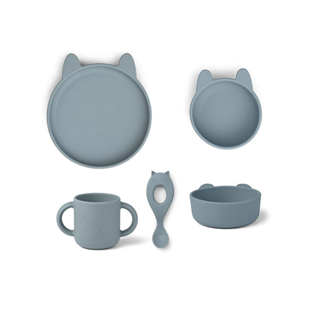 Slika za  Liewood® Set za jelo od silikona Vivi Rabbit Sea Blue