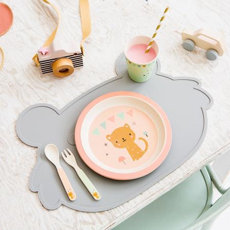 Petit Monkey® Dječji pribor bambusa Snail Grey