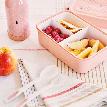 Slika za Petit Monkey® Kutijica za užinu s priborom Peach