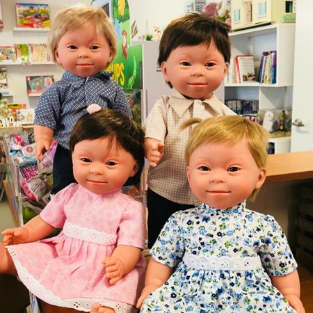 Slika za Miniland® Lutka Down Syndrome European Boy 38cm