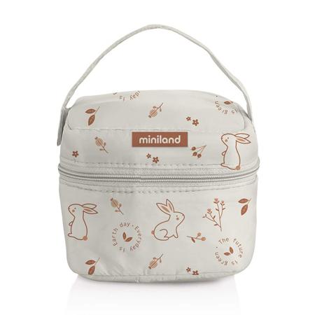 Miniland® Set dvi termo posude s termo torbom 160ml Natur Square Bunny