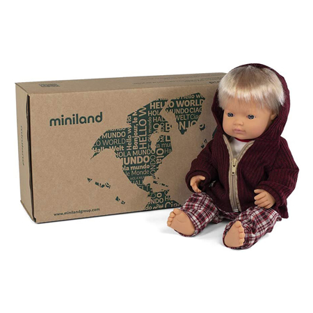 Miniland® Lutka s odjećom Cold weather Trousers Set 38cm