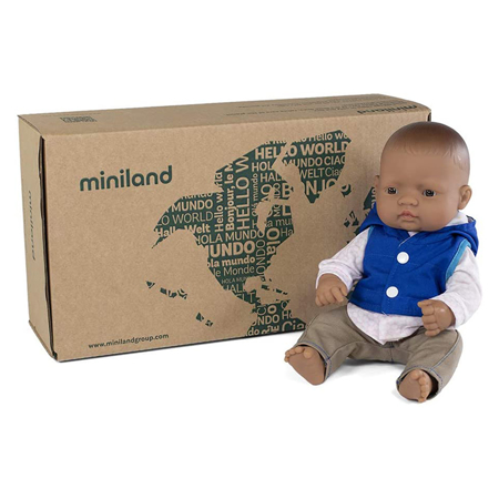 Miniland® Lutka s odjećom Mild Weather Hat Set Navy 32cm