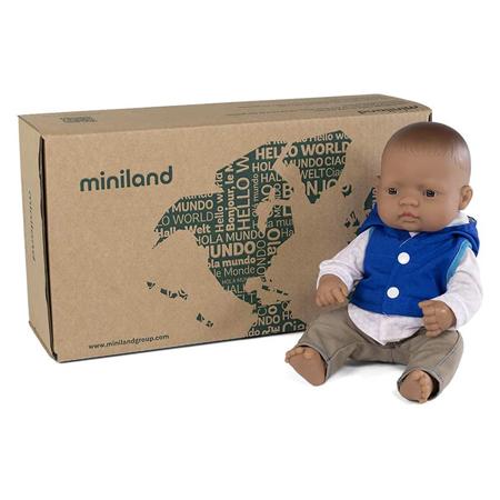 Miniland® Lutka s odjećom Mild Weather Hat Set Navy 32cm