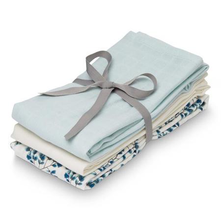 Slika za CamCam® Povijalne pleničke Mix Fiori, Light Blue, Creme White 70x70 3 kosi