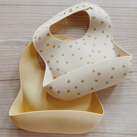 Slika za Konges Sløjd® Komplet dva silikonska podbradnjaka Buttercup/Lemonade