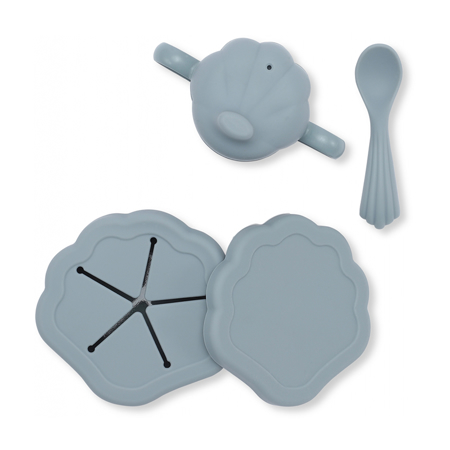 Slika za Konges Sløjd® Silikonski set za hranjenje Light Blue