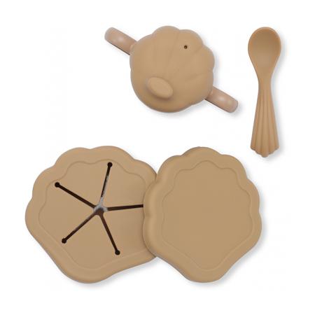 Slika za Konges Sløjd® Silikonski set za hranjenje Shell