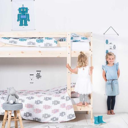 Jollein® Metar za mjerenje visine Robot Pink