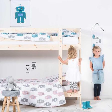 Jollein® Metar za mjerenje visine Robot Teal