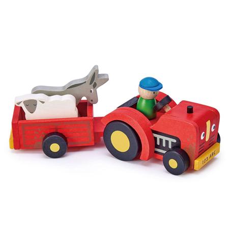 Slika za Tender Leaf Toys® Traktor s prikolicom