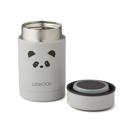Liewood® Termo posuda Nadja Panda Light Grey 250ml