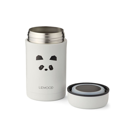 Liewood® Termo posuda Bernard Panda Light Grey 500ml
