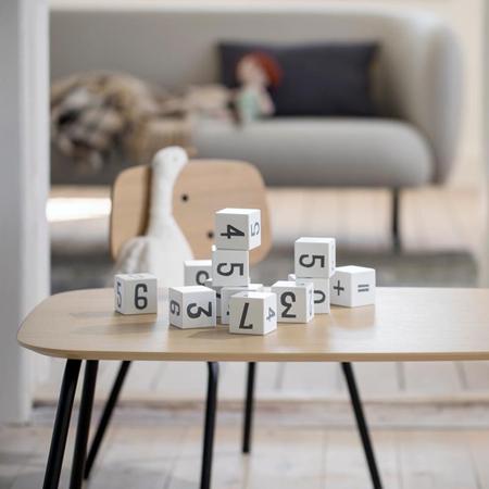 Slika za Sebra® Drvene kocke s brojevima White/Classic Grey