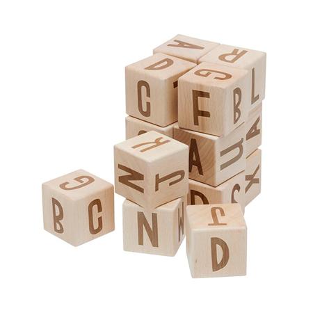 Slika za Sebra® Drvene kocke s slovima Wood