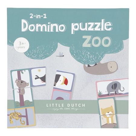 Slika za Little Dutch® Domino Puzzle Zoo 2u1