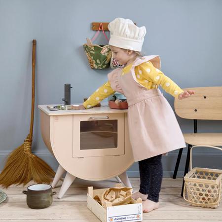 Slika za Sebra® Dječji pregača i kapa Dusty Pink/Classic White