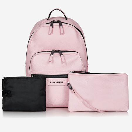 Slika za Tiba+Marl® Ruksak za previjanje Elwood Faux Pale Pink