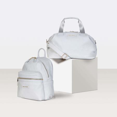 Slika za Tiba+Marl® Ruksak za previjanje Miller Faux Pale Grey