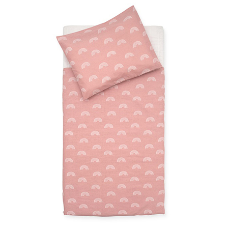 Slika za Jollein® Dječja posteljina Rainbow Blush Pink 140x100