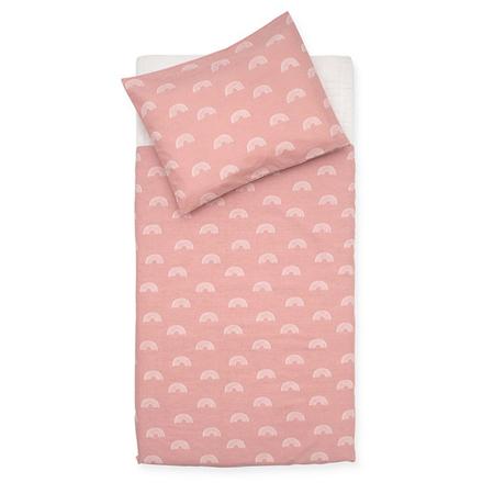 Jollein® Dječja posteljina Rainbow Blush Pink 140x100