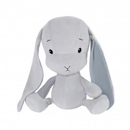Effiki® Zajček M 35 cm - Sivi - Plave uši