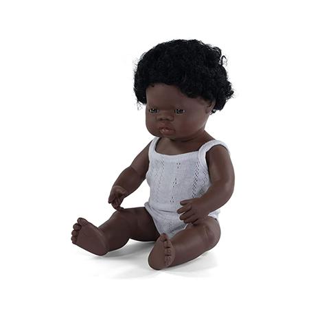 Slika za Miniland® Lutka African Boy 38cm