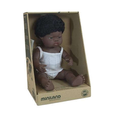 Miniland® Lutka African Boy 38cm