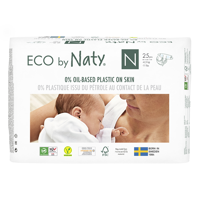 Slika za Eco by Naty® Ekološke pelene Newborn 0 (1-4,5 kg) 25 komada