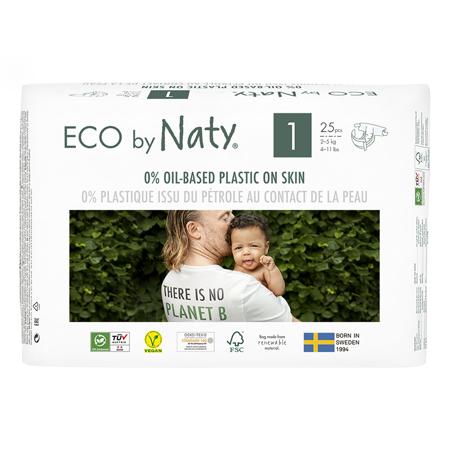 Slika za Eco by Naty® Ekološke pelene 1 (2-5 kg) 25 komada
