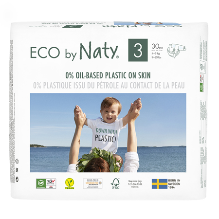 Slika za  Eco by Naty® Ekološke pelene 3 (4-9 kg) 30 komada