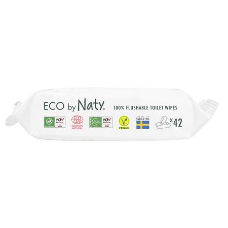 Eco by Naty® Vlažne maramice Flushable 42 komada