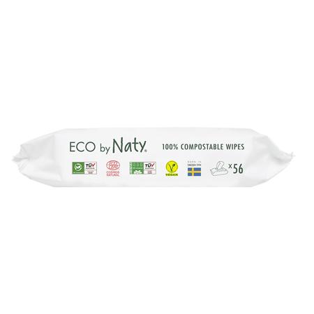 Eco by Naty® Vlažne maramice  Aloe 56 komada