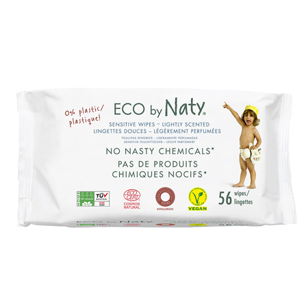Slika za Eco by Naty® Vlažne maramice Lightly Scented 56 komada