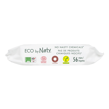 Slika za Eco by Naty® Vlažne maramice Lightly Scented 56 komada