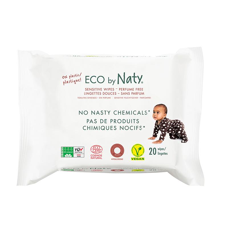 Slika za Eco by Naty® Vlažne maramice  Travel Pack 20 komada