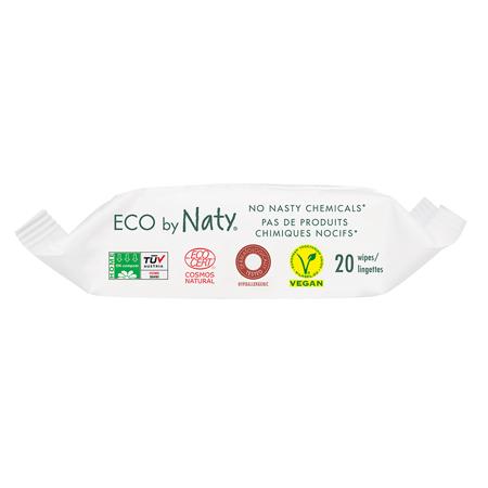 Eco by Naty® Vlažne maramice  Travel Pack 20 komada