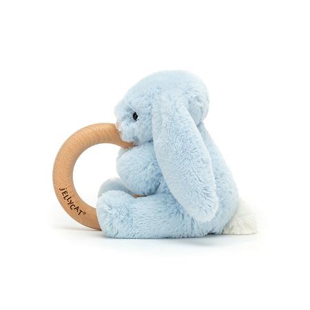 Jellycat® Plišani zec s drvenim obručem Bashful Blue 13cm
