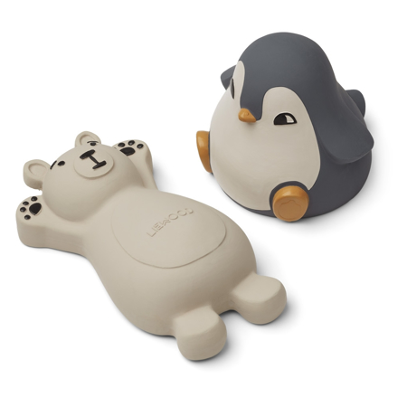 Slika za  Liewood® Set 2 igračke za kupanje  Knud Polar Bear/Penguin Blue Mix