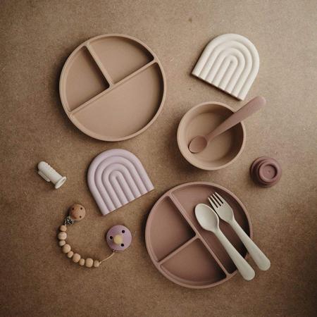 Slika za  Mushie® Silikonski dijeljeni tanjurić Blush