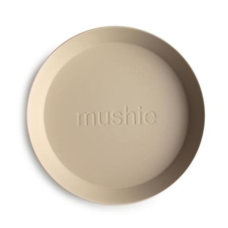 Mushie® Set dva tanjurića Vanilla