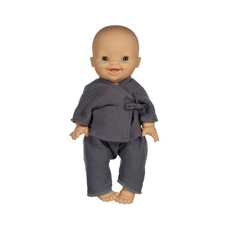 Minikane® Kompletić za lutke Kimono Niko Bleu artic 34cm