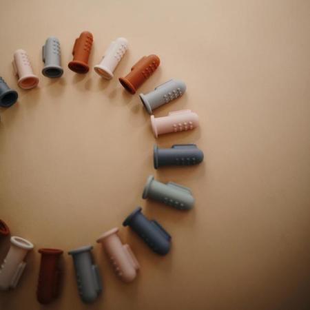 Slika za Mushie® Četkice za zube, za prst Tradewinds/Stone