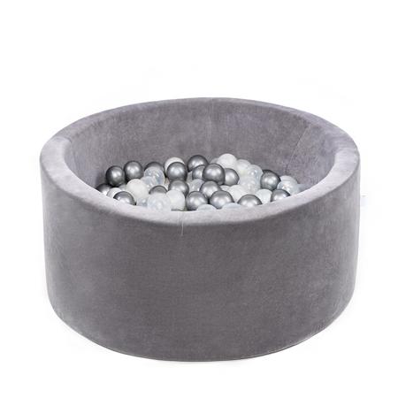 Slika za Misioo® Bazen sa kuglicama Grey Velvet Collection