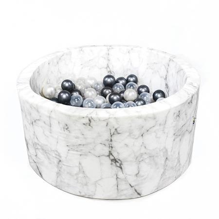 Slika za Misioo® Bazen sa kuglicama Marble White Velvet Collection