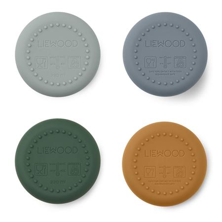 Slika za  Liewood® Set 4 silikonske čašice Ethan Dino Blue Multi Mix