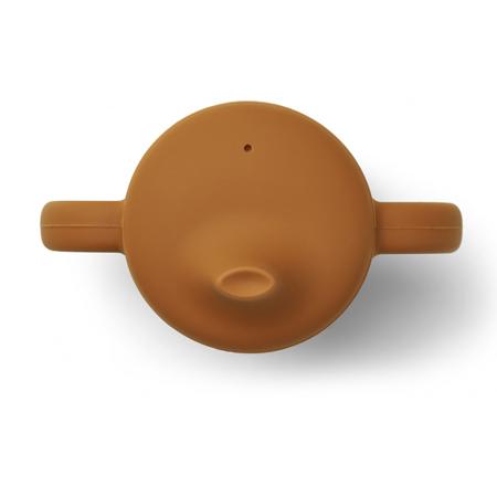 Liewood® Čašica za učenje pijenja od silikona Neil Mustard