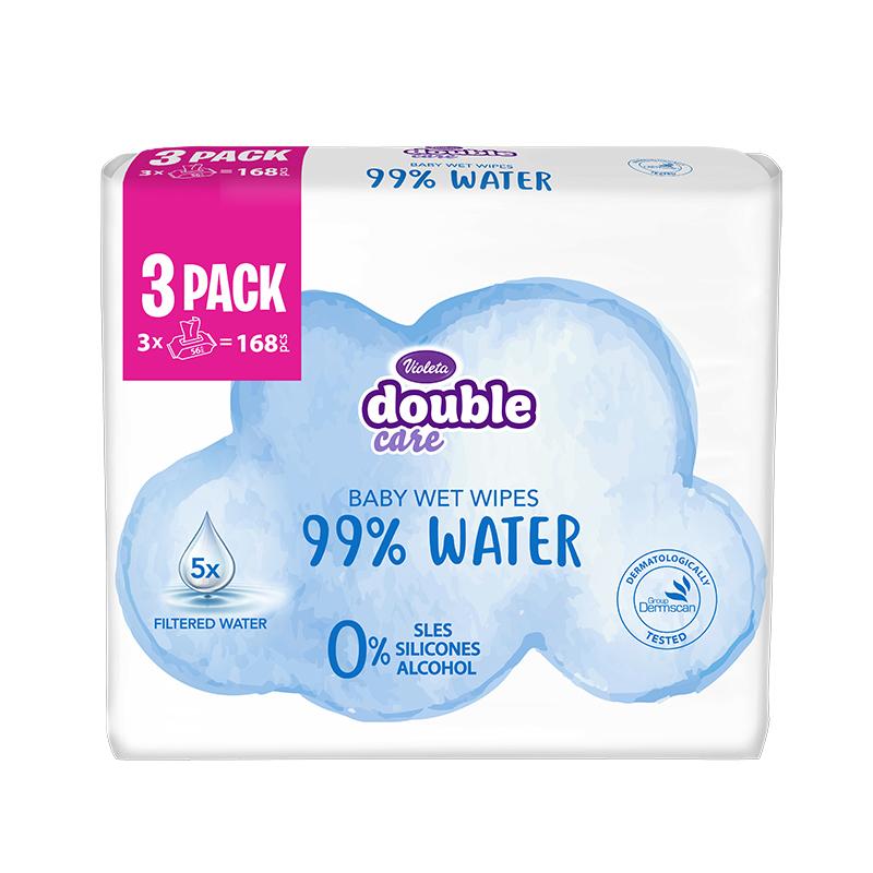 Slika za Violeta® Dječje vlažne maramice Water Care 3x56/1