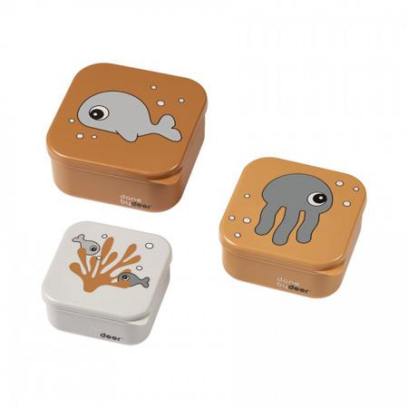 Slika za Done by Deer® Škatlice za prigrizke Sea friends Mustard/Grey