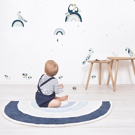 Lilipinso® Dječji tepih Rainbow Blue 120x70